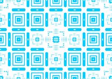 Papier peint islamique arabe chinois ornemental oriental géométrique floral abstrait bleu sans couture de fond de texture de modè Photographie stock libre de droits