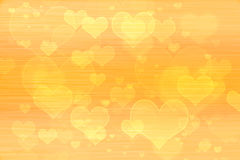 Papier peint jaune de fond de coeurs Photographie stock