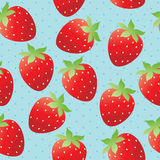 Papier peint lumineux de fraise Photographie stock