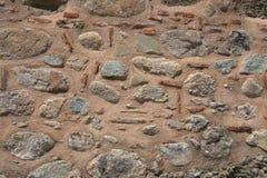 Papier peint plat de détail pourpre de maçonnerie de mur en pierre Photos stock