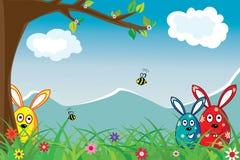 Papier peint pour Pâques Photographie stock libre de droits