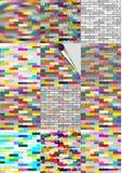 Papier peint réglé : mur bricked coloré Photos libres de droits