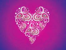 Papier peint rose artistique abstrait de coeur Photo stock