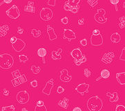 Papier peint rose de chéri Images libres de droits