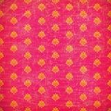 Papier peint rose et orange de grunge de damassé Images libres de droits