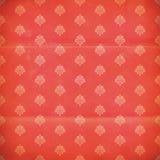 Papier peint rouge et rose de grunge de damassé Images libres de droits