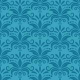 Papier peint royal avec floral sans couture de damassé Photographie stock libre de droits