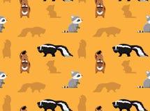 Papier peint sans couture 3 d'animaux de mouffette de raton laveur de tamia Photo stock