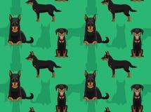 Papier peint sans couture de bande dessinée de Beauceron de chien illustration libre de droits