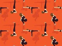 Papier peint sans couture de Manga Yoga Noose Pose Background Illustration Libre de Droits