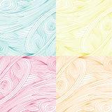 Papier peint sans couture de vecteur de modèle de plume jaune Photo libre de droits