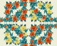 Papier peint sans couture - fleurs et feuilles Photos libres de droits