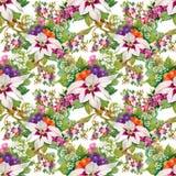 Papier peint sans couture floral dans le style d'aquarelle Photo stock