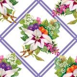 Papier peint sans couture floral dans le style d'aquarelle Image libre de droits