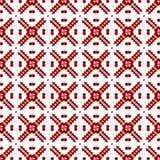 Papier peint sans couture géométrique floral chinois arabe de texture de modèle de vintage royal rouge oriental ornemental abstra Images libres de droits