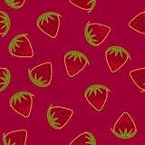 Papier peint sans couture tiré par la main de fraise Photographie stock