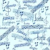 Papier peint sans joint de musique Photos libres de droits