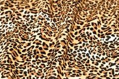 Papier peint texturisé de peau décorative de léopard Image libre de droits