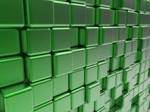 Papier peint vert de cubes illustration stock