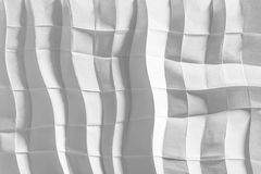 Papier plié par blanc photographie stock