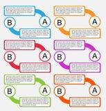 Papier pour étiquettes coloré d'Infographic illustration libre de droits