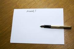 Papier pour des enregistrements photos stock
