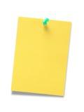 Papier pour le message images libres de droits