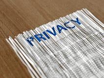 Papier privé déchiqueté rassemblé Photos stock