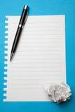 papier przygotowywający biały writing fotografia royalty free