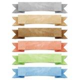 Papier réutilisé par étiquette d'origami d'en-tête Photographie stock libre de droits