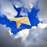 Papier réutilisé par aéronefs Image stock