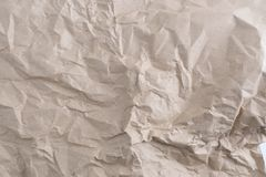 Papier réutilisé par texture de papier chiffonné Photos stock
