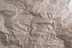 Papier réutilisé par texture de papier chiffonné Photo stock