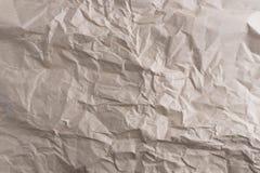 Papier réutilisé par texture de papier chiffonné Photographie stock libre de droits