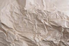 Papier réutilisé par texture de papier chiffonné Images libres de droits