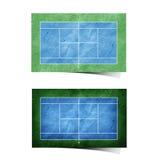 papier réutilisé par zone de tennis Images libres de droits