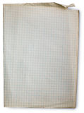 Papier rayé vieux par grand dos Image stock