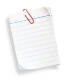 Papier rayé blanc Photos libres de droits