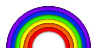 Papier-Regenbogen 3D Lizenzfreie Stockfotografie