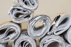 Papier Rolls Stockbild