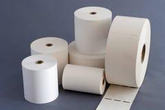 Papier Rolls pour la caisse enregistreuse Image stock