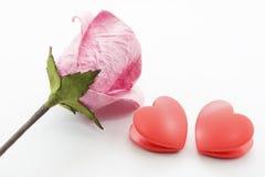 Papier rosafarben und Inneres Stockbilder