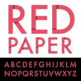 Papier rouge illustration libre de droits