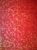 Papier rouge avec la lettre chinoise Photographie stock