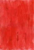 Papier rouge d'aquarelle Photos libres de droits