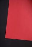 Papier rouge et noir pour l'idée de métiers Photographie stock