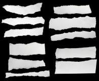 papier rozdzierający biel obrazy stock