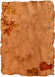 Papier sale d'automne vieux Images stock