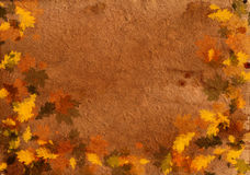 Papier sale d'automne vieux Image stock