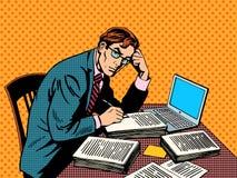 Papier scolaire de thèse de journaliste de rédacteur d'auteur illustration stock